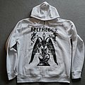 Belphegor Baphomet Zipper White Hooded Top