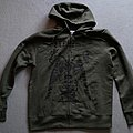 Belphegor Baphomet Zipper  Green Hooded Top