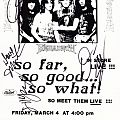 Megadeth Autographed Flyer Other Collectable