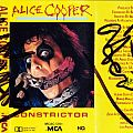 Alice Cooper Autograh Other Collectable