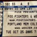 Foo Fighters / Weezer Concert Ticket Other Collectable