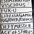 Wild Dogs Setlist Other Collectable
