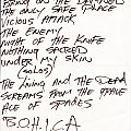 Abattoir Setlist Other Collectable