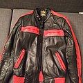 Leather Jacket - Battle Jacket - vintage biker leather jacket