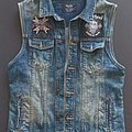 Bershka blue denim vest size M, 38