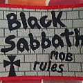 "Original Black Sabbath ""Mob Rule"" Woven Patch."