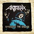 "Original Anthrax "" Spreading The Disease "" Woven Patch."