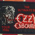 "Original Ozzy Osbourne ""The Ultimate Sin"" Tour Woven Patch."