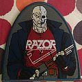 "Razor - Patch - Official Patch Razor ""Shotgun Justice"" Woven Patch."