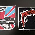 Messiah and Sex Pistols very old rubber patches mint