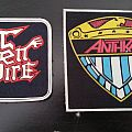 OPEN FIRE - Patch - Open Fire, Anthrax very old rubber patches, MINT