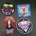 Overkill, Sarcofago, Diamond Head, Agressor woven patches