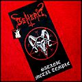 BEHERIT - Satanic Metal Temple (official) art flag Other Collectable