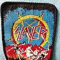 Slayer - Patch - Slayer - Hell Awaits blue silk screen print