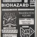 Biohazard - Gig flyer 1989 Other Collectable