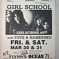 Girlschool - Gig flyer 1984