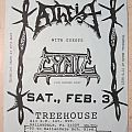Atheist - Gig flyer 1990 Other Collectable