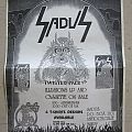 Sadus - Merchandise sheet