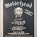 Motörhead - Other Collectable - Motörhead - Gig Flyer (1983)