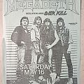 Megadeth - Armed Forces Day (gig flyer) Other Collectable