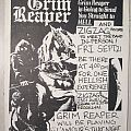 Grim Reaper - Other Collectable - Grim Reaper - Store signing flyer