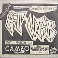 At War - Other Collectable - At War - Gig flyer 1988