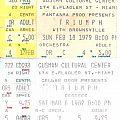 Triumph - Ticket Stubs (1979 - 1982)