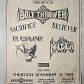Bolt Thrower - Gig flyer (1991)