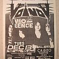 Voivod - Gig flyer 1988 Other Collectable