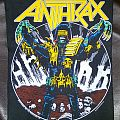 Anthrax - Patch - Anthrax Backpatch Judge Death Copyright 1987