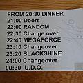 U.D.O. Concert Schedule Band Room Signed by Udo Dirkschneider