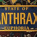 Anthrax State of Euphoria License Plate