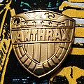 Judge Dredd Style Anthrax Pin