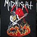 Midnight - Patch - Embroidered Midnight Athenar On Fire Backpatch
