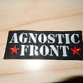 Agnostic Front embroidered logo patch