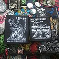 Bolt Thrower & Varukers patches from Headnoise records