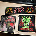 Slayer and Metal church patches