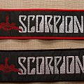 Scorpions stripe logo patches