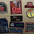 Vintage Black Sabbath and Ozzy patches