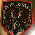 Bathory Swedish Hordes Red Bordered Woven Patch