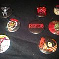 80's buttons kreator sodom voivod nuclear assault megadeth slayer motorhead obituary destruction Other Collectable