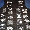 my new black/death metal jacket black with white patches