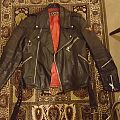 Original Swedish 70s biker jacket, Petroff Jofama Red lining