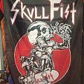 Skull fist flag