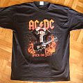AC/DC, 'Rock Or Bust' original 2015/2016 shirt for the European tour