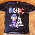 AC/DC, 'Rock Or Bust' original 2015 shirt for the 2 Paris' shows