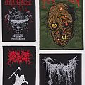 Assortment of patches (Urfaust, Repulsion, Ride For Revenge & Swallowed)