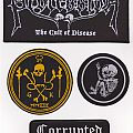 Corrupted - Patch - Assortment of patches (Corrupted, Cannibal Corpse, Grave Upheaval & Procession)