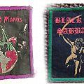 PRAYING MANTIS and BLACK SABBATH original vintage patches