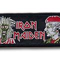 VINTAGE Iron Maiden women in uniform patch